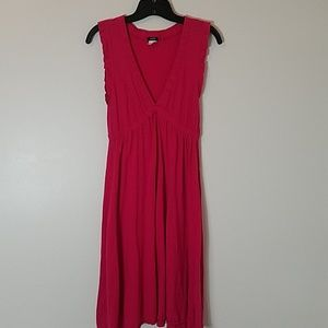 J crew pink flutter sleeve dress size small